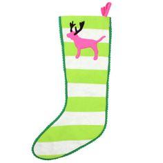 Victoria's Secret Pink RARE Reindeer Pink Dog Felt Stocking   eBay