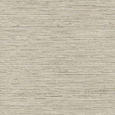 Horizontal Grasscloth Wallpaper in Taupe design by York Wallcoverings