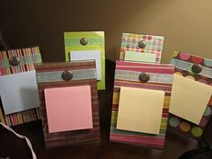 Picture frame post-it!! Great, cheap, gift idea! Cooper's teachers loved them for Teacher Appreciation week :) @ Do It Yourself Pins