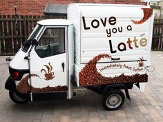 Piaggio Ape 50 | Coffee Latino - The Market Leader in Mobile Coffee Vans