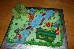 Cub Scout cake idea - camping