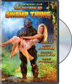 Everyone's favorite muck-encrusted plant-man is back in The Return of Swamp Thing, the tounge-in-cheek action-adventure starring Louis Jourdan and Heather Locklear. Dc Movies, Cult Movies, Horror Movies, Movie Tv, Comic Book Publishers, Comic Book Artists, Swamp Thing Movie, Beastmaster Movie, Sarah Douglas