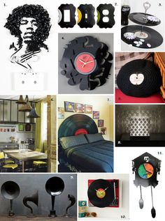 record upcycling ideas | ... record switch plate and outlet cover wrecordsbymonkey 3 tiered records