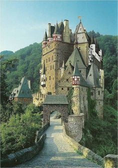 Burg Eltz. Scanned from a post card Hank bought at the castle.