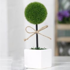 7''Artificial Fake Plant Tree Potted Plant Yard Home Office Desktop Decor Ficus