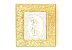 Mr.& Mrs. Forever Gold Foil Art Print Gold by TheDigitalStudio, $8.00