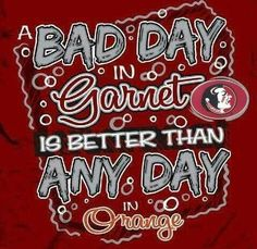 I hate the color ORANGE! Especially on football uniforms. Garnet and gold baby! #FSU
