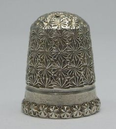 Solid Silver Thimble - Size 8, Chester 1897