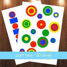 Montessori Knobless Cylinder Extension Patterns & 3D by jojoebi