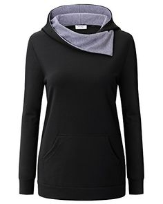 Ca Kra Winter Hoodies for Women Womens Long Sleeve Cotton Casual Hoodie with Kangaroo PocketBlackL >>> Click for Special Deals #WinterLeggings Winter Leggings, Winter Hoodies, Casual Shirts, Turtle Neck, Special Deals, Sweatshirts, Kangaroo, Long Sleeve, Sweaters
