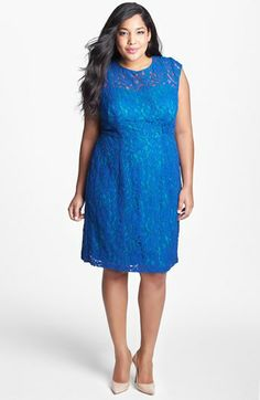 Ivy & Blu for Maggy Boutique Lace Fit & Flare Dress (Plus Size) available at #Nordstrom