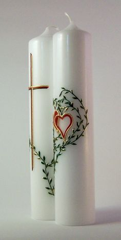 Doppelte Hochzeitskerze //  Double Wedding Candle
