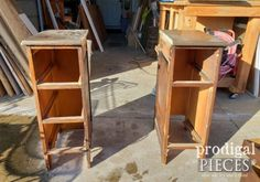 Dry Fit of DIY Nightstands from Antique Desk | prodigalpieces.com Diy Nightstand, Nightstands, Fall To Pieces, Old Desks, Antique Desk, Cool Things To Make, Diy Tutorial, Repurposed, Upcycle