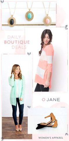 Go ahead and add Jane.com to your favorites. Find what you like, add it to cart, click purchase and wait for your confirmation email. No really, it's that fast. With hundreds of suuuper cute apparel deals a day, let's just say the mailman is going to be busy.