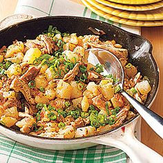 I would use boneless chicken breast instead of thighs  Chicken Hash   MyRecipes.com