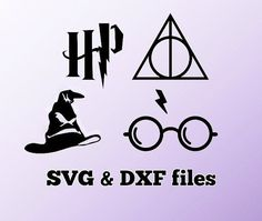 Harry Potter SVG DXF cut files Vector art files for by WorldDigi