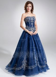 Quinceanera Dresses - $274.99 - Ball-Gown Sweetheart Floor-Length Organza Quinceanera Dress With Embroidered Beading (021004556) http://hochzeitstore.com/Ball-gown-Sweetheart-Floor-length-Organza-Quinceanera-Dress-With-Embroidered-Beading-021004556-g4556