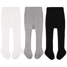 CozyWay Baby Tights Toddler Seamless Leggings Pantyhose for Baby Girls Cable Knit Cotton Pants Stockings Leggings Outfit Fall, Dance Leggings, Knit Leggings, Toddler Leggings, Girls In Leggings, Leggings Are Not Pants, Sonus Festival, Baby Girl Tights, Cable Knit Tights