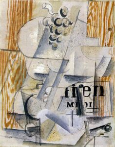 Braque, Georges, The Fruitdish, 1912, Oil and sand on canvas