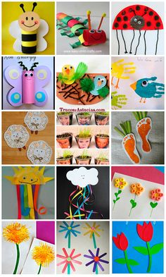 manualidades de primavera para niños fáciles de hacer | Más info: http://trucosyastucias.com/decorar-reciclando/manualidades-primavera  #manualidades #primavera #flores #spring #crafts #flowers #ideas #original #kids #decoration #upcycling #infantil #niños #insectos #bugs #reciclar
