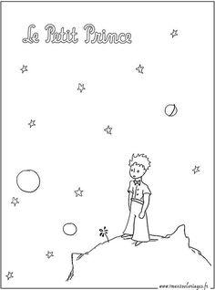 Coloriages Le Petit Prince sur la planète