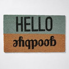 This durable door mat is made from natural fibres and is suitable for indoor or outdoor use. It's vinyl backed to prevent movement and is a great addition to any entry, with a warm greeting for guests as they come and go. Hello Goodbye, Doors, Target, Australia, Gate