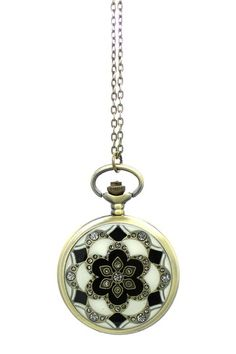 Eye Candy Los Angeles Lotus Flower Pocket Watch Necklace by Non Specific on @HauteLook