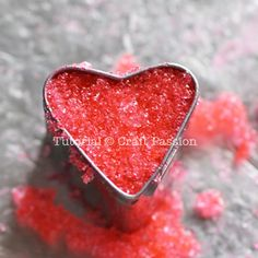 Sweet heart sugar cube tutorial... will be really cute in green and red in jars with a box of tea!