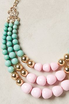 pale #pink and #mint layered necklace http://rstyle.me/n/m3ra9r9te