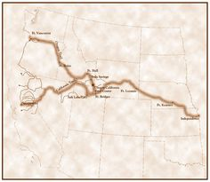 California Trail & Oregon Trail from Independence Mo.