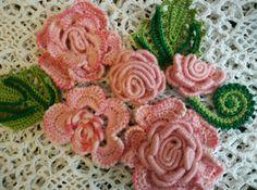 Irish lace. Roses. Applications 8 pcs. Handmade. Decoration on #clothing, bags…