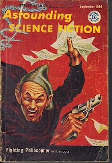 cover art by Kelly Freas - September 1954 cover of Astounding Science Fiction (British version)