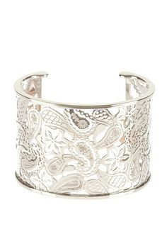 Cashmere Paisley Filigree Extra Wide Cuff by Garrity Enterprises on @HauteLook