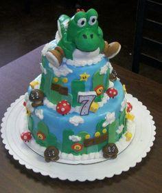 Yoshi/Super Mario cake