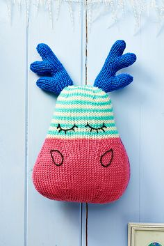 Marvin Moose free knitting pattern,lot's more at  let's get crafting.com ♥