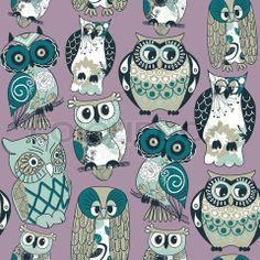 owl images free | Stock vector of 'Seamless owl pattern'