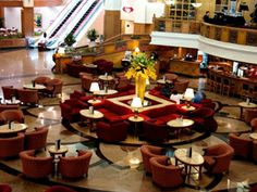 Atrium Lounge at 5 star hotel: Century Park Hotel. This hotel's address is: 599 Pablo Ocampo Str. Malate Manila 1004 and have 500 rooms Most Luxurious Hotels, Manila Philippines, Park Hotel, Atrium, 5 Star Hotels, Southeast Asia, Table Settings, Lounge, Table Decorations