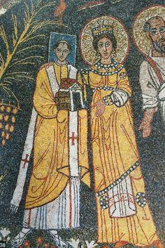 Papa Pasquale I, 817-24, mosaico, Santa Cecilia, Roma