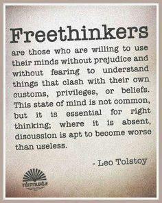 Freethinkers. Leo Tolstoy