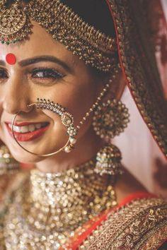 50 New Ideas Indian Bridal Nose Ring Galleries Bridal Poses, Bridal Photoshoot, Bridal Shoot, Bridal Portraits, Wedding Poses, Bride Photography, Indian Wedding Photography, Bridal Nose Ring, Nath Bridal