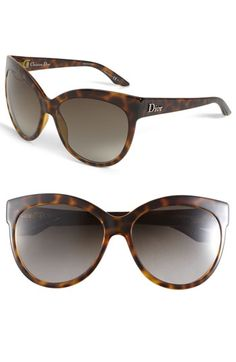 97ee800c52e69 Dior Rounded Cat s Eye Sunglasses