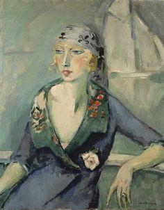 Kees van Dongen - La femme au foulard, 1921.