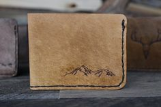 Bifold Mountain Wallet by Willow Creek Leather Co