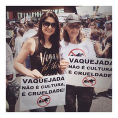 Nothing makes our day more than seeing you guys out there spreading the message !!! Worldwide baby  Brazilian Vegan babe @diario_vegano protesting animal cruelty & being the change  You go girl!!!!!#veganfortheanimals