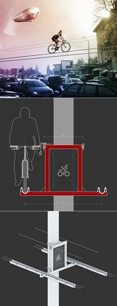 Where Awesome meets Crazy.  Kolelinia elevated bicycle lane concept.