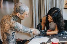 Kourtney Kardashian, Kardashian Style, Travis Barker Tattoos, Celebrity Couples, Celebrity News, Shanna Moakler, Love Yourself Tattoo, Kandi Burruss, Blink 182