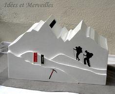 urne theme montagne mont blanc idees et merveilles 1 - Urne Mariage Moto