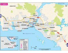 buy istanbul map from online map store