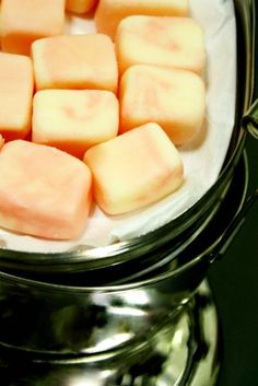 home made - dinner mints.. .VERY interesting!  Looks fun... want to try this!