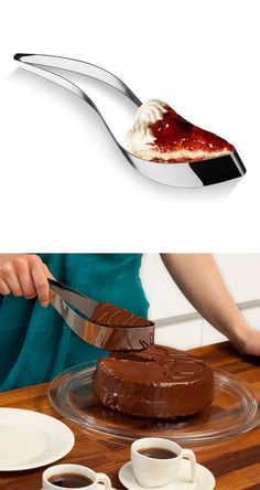 Cake Server. This is the coolest most practical thing I've seen on pinterest... Today :)
